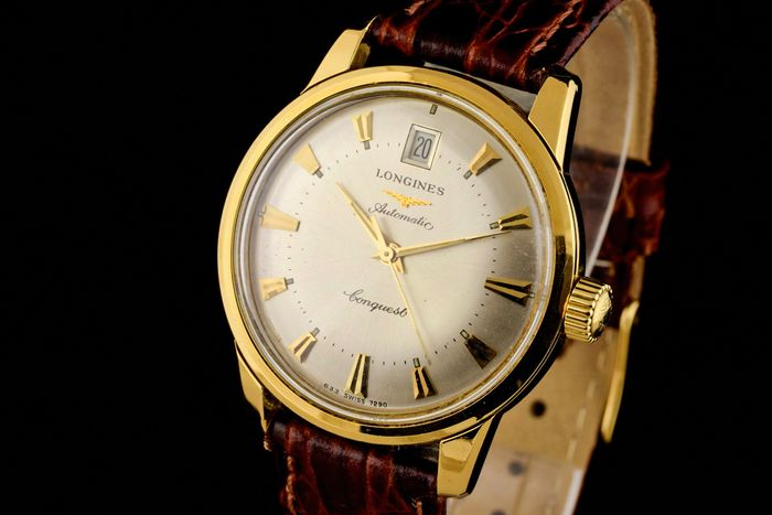 """Longines - Conquest 18K Gold Automatic - """"NO RESERVE PRICE"""" - 28 081 006 - Heren - 1990-1999"""