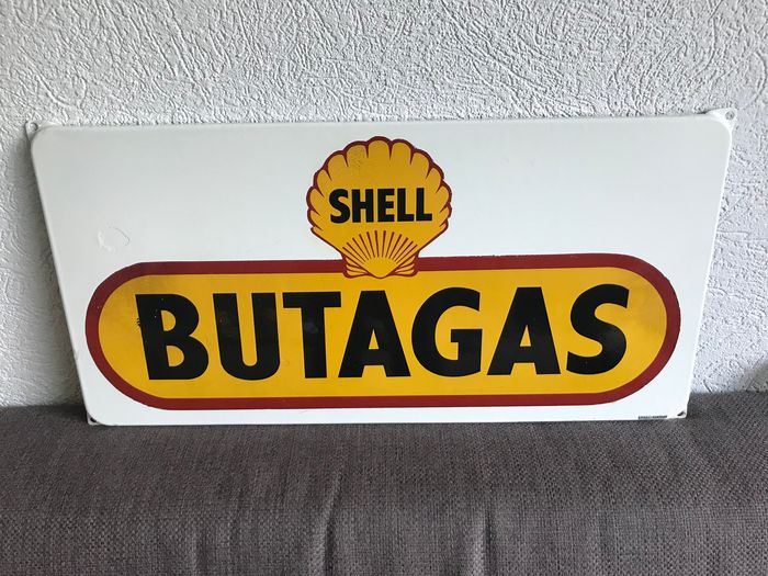 Advertising board - Shell Butagas - 1960-1970