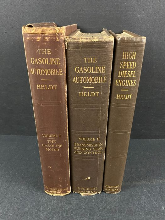 Bücher - The Gasoline Automobile Vol. I & II + High Speed Diesel Engine - Peter Heldt