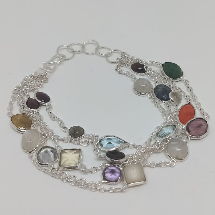 BRACELET WITH VARIOUS MINERALS - 14 g - (1)