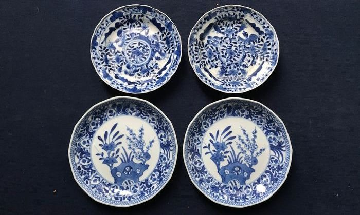 Saucers (4) - Porcelain - China - 19th century