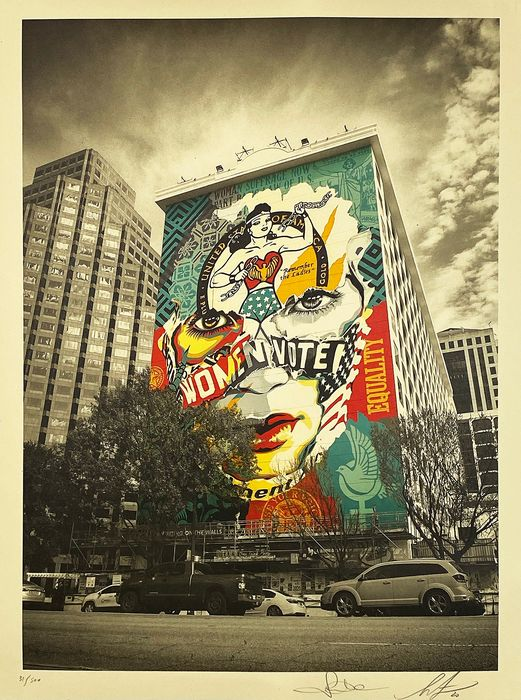 Shepard Fairey (OBEY) x Sandra Chevrier - 'The Beauty of Liberty & Equality'
