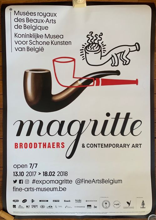 Keith Haring, Magritte - Magritte Broodthaers & Contemporary Art - 2017