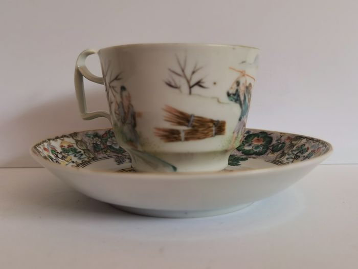 Cup, Saucer (2) - Porcelain - China - 19th century