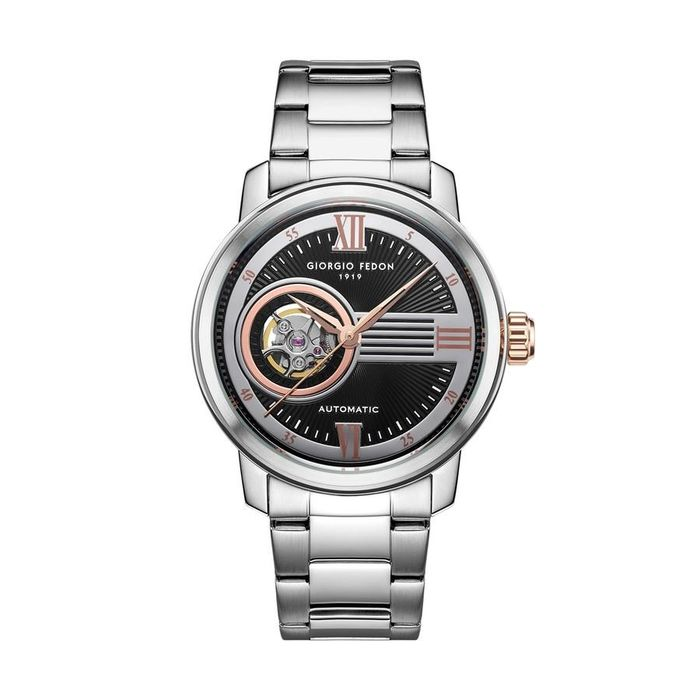 """Giorgio Fedon - Automatic PCQ Stainless Steel Bracelet Black Dial - GFCQ004 """"NO RESERVE PRICE"""" - Heren - 2011-heden"""