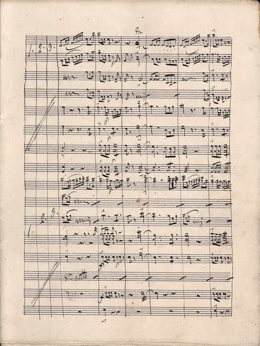 Fromental Halévy (transcription from)  - Manuscript; Musical sheet. Finale 1° Dell'Opera L'Ebrea for Orchestra - 1850/1870