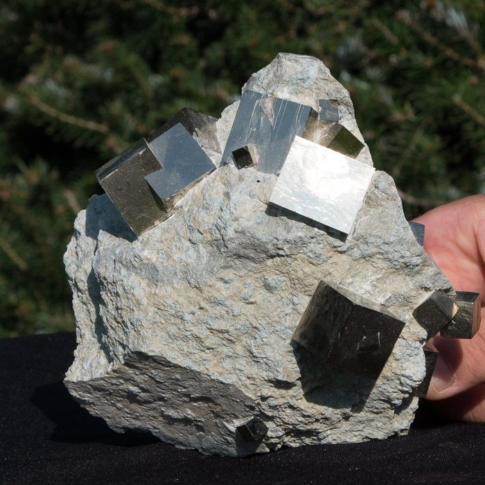 Large piece XXL pyrite on matrix - 16×15×12 cm - 2346 g