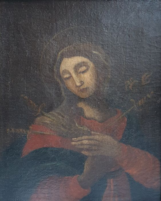 """Painting, """"Our Lady of sorrows"""" (1) - oil painting on canvas - 700"""