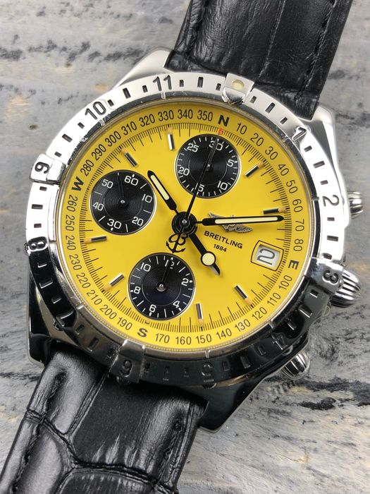 Breitling - Longitude GMT Chronograph Automatic Yellow - A20048 - Homme - 1990-1999