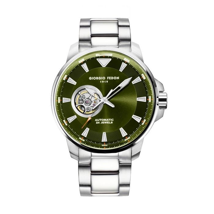 """Giorgio Fedon - Automatic Accurate III Green Dial Stainless Steel Bracelet - GFBW006 """"NO RESERVE PRICE"""" - Heren - 2011-heden"""