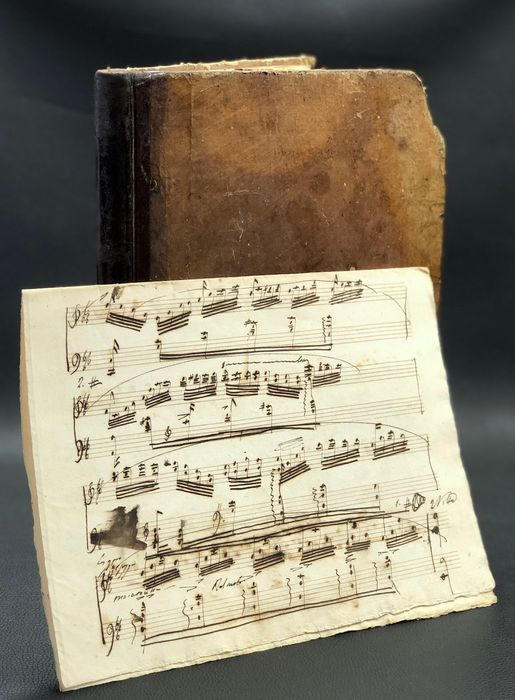 "Giuseppe Verdi, Gaetano Donizetti, Gioachino Rossini, Petrella, Bellini (Trascription of) - Manuscript; Musical sheet - Raccolta Opera ""Trovatore, Forza del Destino, Sonnambula... ecc"" - 1860/1880"