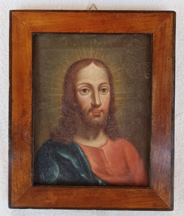 """Painting, """"Jesus"""" - Oil painting on canvas - 18th century"""