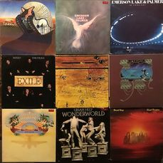 Emerson, Lake & Palmer, Uriah Heep, Various Artists/Bands in Classic Rock (before 1990), Wishbone Ash, Yes, Exile - Différents artistes - Nice lot of nine classic rock LP's from the 70's - Différents titres - LP's - 1971/1979