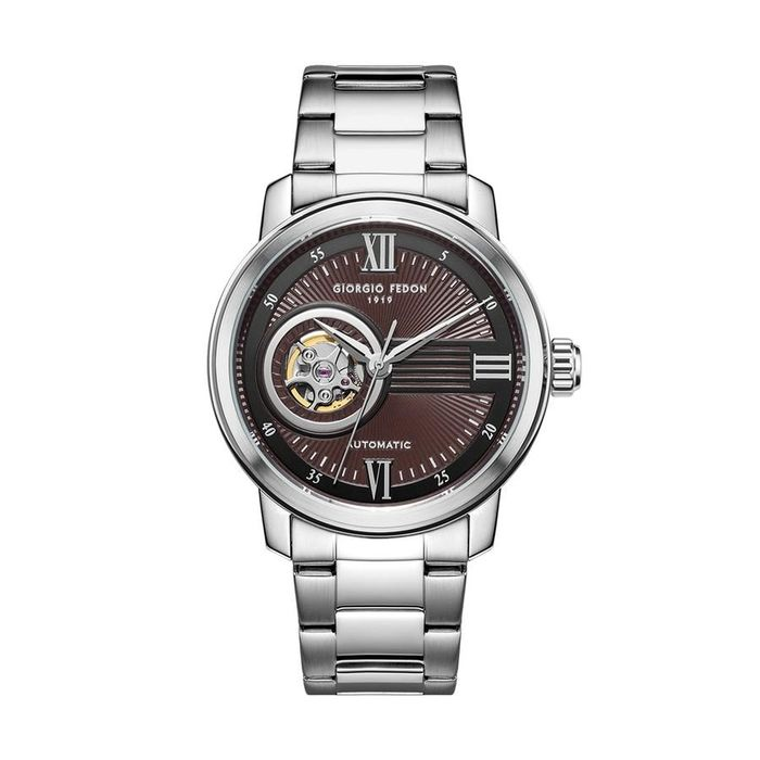 """Giorgio Fedon - Automatic Watch PCQ Steel Bracelet Brown GFCQ006 - GFCQ006 """"NO RESERVE PRICE"""" - Heren - 2011-heden"""