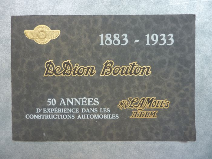 Brochures / catalogues - DeDion Bouton