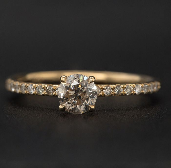 14 kt. Yellow gold, 1.61g - Ring - 0.65 ct Diamond - No Reserve Price