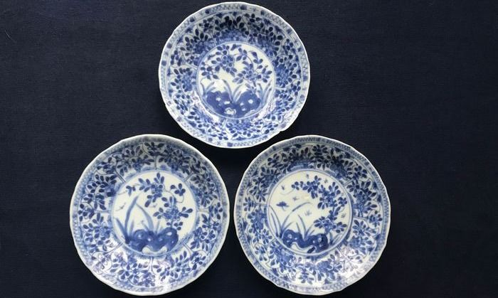 Saucers (3) - Porcelain - China - 19th century