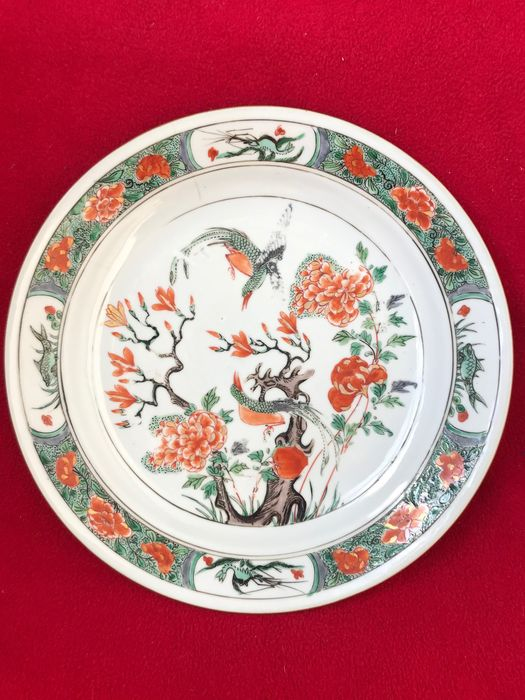 A CHINESE FAMILLE VERTE DISH DECORATED WITH PHEASANTS - Porcelain - China - Kangxi (1662-1722)