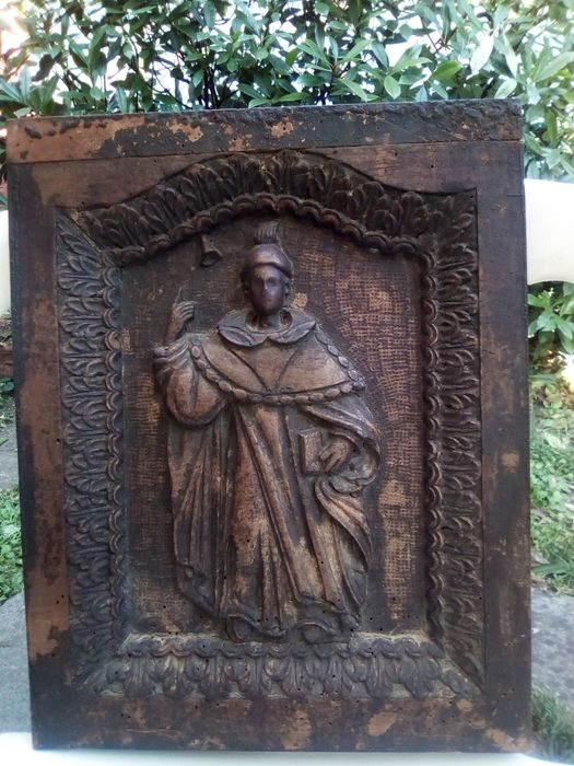 "Sculpture, ""sant 'Antonio Abbate"" (1) - Wood - First half 18th century"