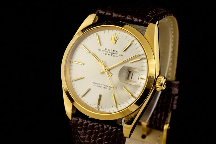 """Rolex - Oyster Perpetual Date 18K Gold Chronometer - """"NO RESERVE PRICE"""" - 1500 - Heren - 1960-1969"""