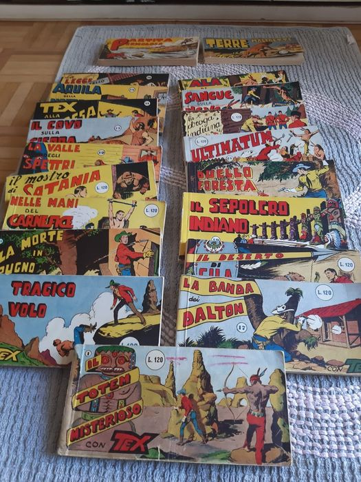 Tex s. rossa nn. 1, 8/24, 29, 30 - 20x volumetti raccoltine - Softcover - First edition - (1956/1958)