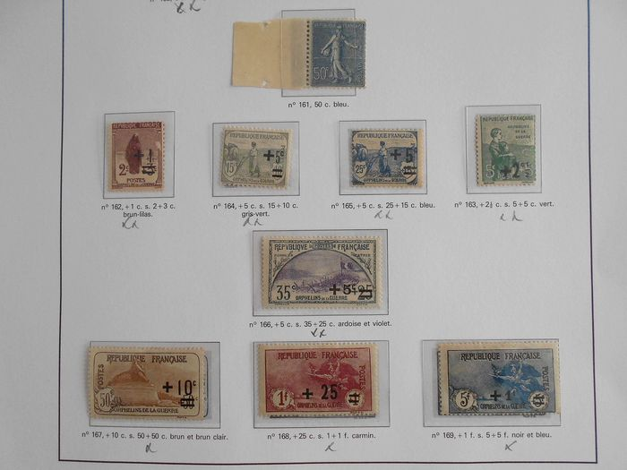 Francia 1919/1937 - A very lovely collection: semi-modern stamps, Orphans, Caisse d'Amortissement, Headdresses, Angel, - Yvert Entre n°157 et 356