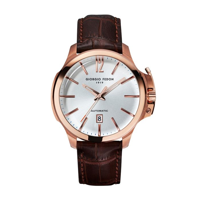 """Giorgio Fedon - Automatic Timeless VI Rose Gold White Dial - GFCE004 """"NO RESERVE PRICE"""" - Heren - 2011-heden"""