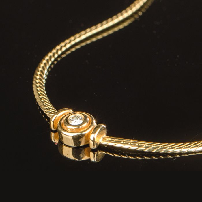 14 kt. Yellow gold - Necklace Diamond