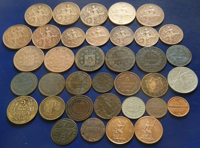 World - Lot various coins 1755/1977 (36 pieces) from 12 countries
