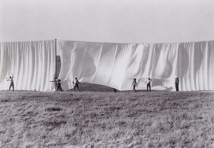 Wolfgang Volz (1948) - Christo's Running Fence - California, 1976