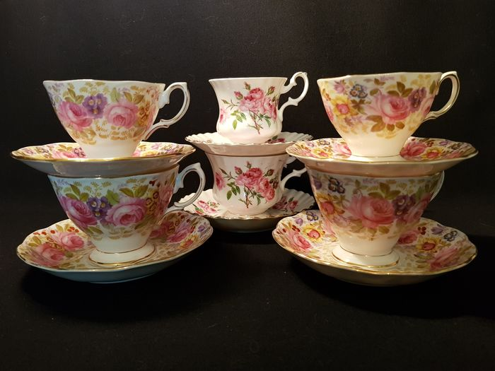 Royal Albert - 3 Sets of Men's and Women's Cups. (6) - Porselein