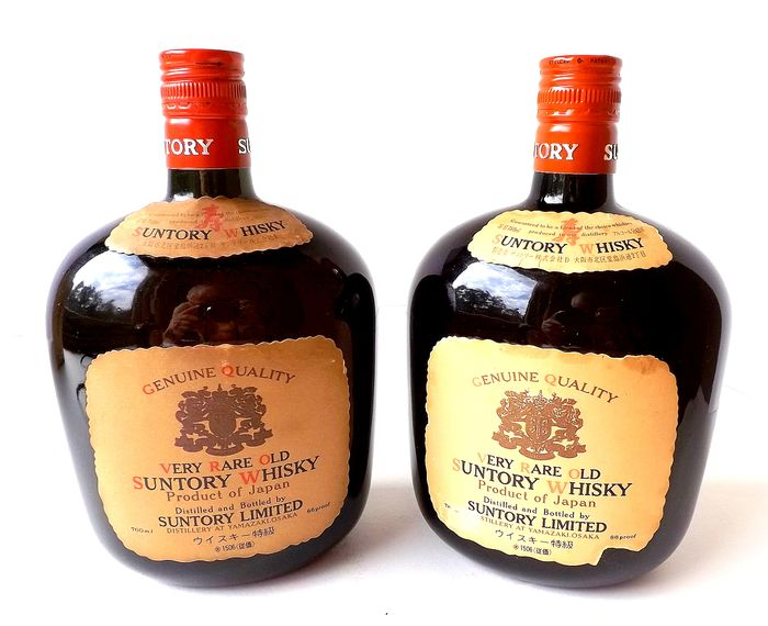 Suntory Very Rare Old - Original bottling - b. Jaren 1990 - 760 ml - 2 flessen