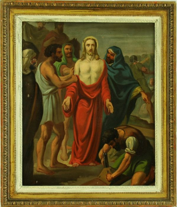 """""""Spoliation of Christ"""" - Oil on canvas from the Neapolitan area - Second half 18th century"""