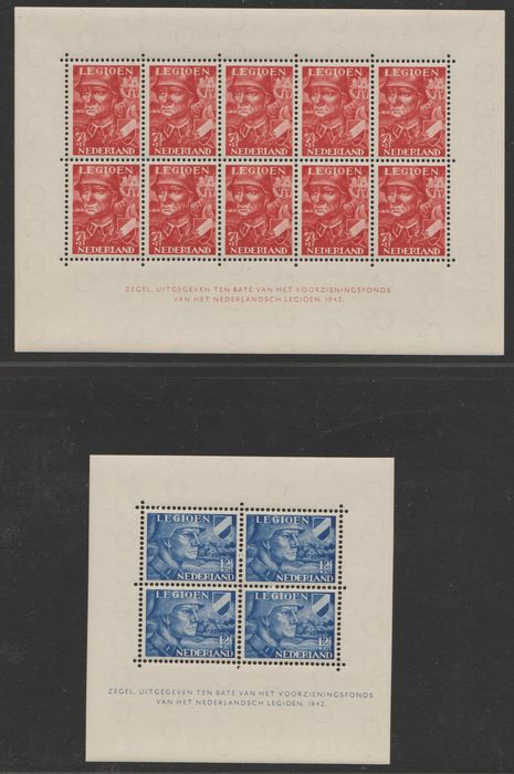 Pays-Bas 1942 - Legion blocks - NVPH V402/V403