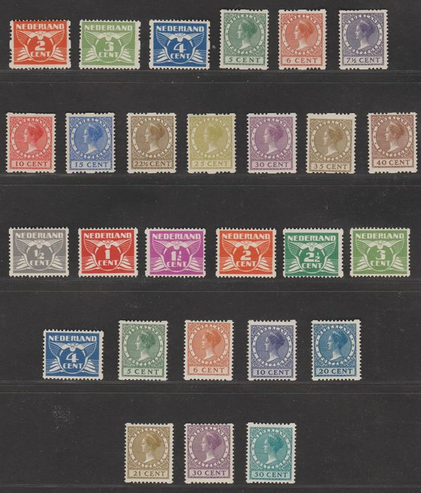 Pays-Bas 1926/1930 - Syncopation selection - NVPH R19/R31 + R57/R70