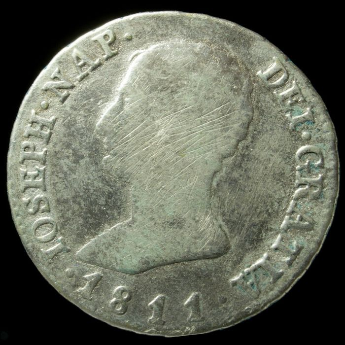Spain - Jose Napoleon (1768-1844), 4 Reales de plata,  Madrid 1811 - 26 mm / 5.58 gr