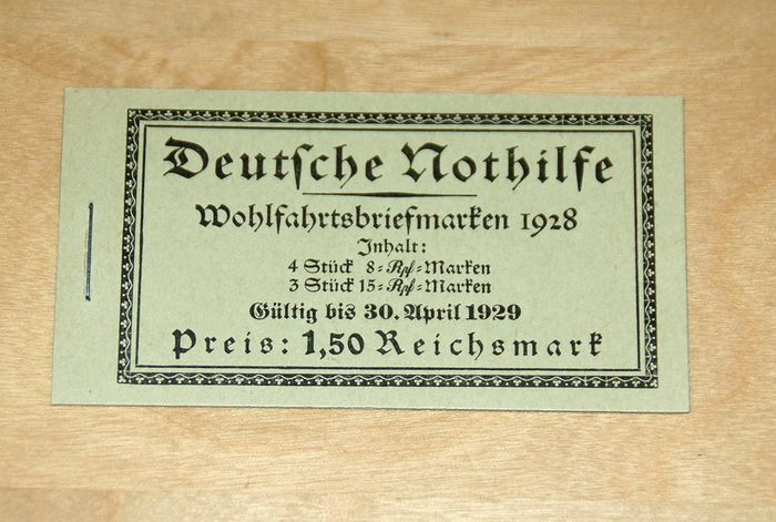"""Duitse Rijk 1928 - German Empire 1928 - """"Nothilfe"""" (Emergency Aid) stamp booklet, MNH - Michel MH 27.2"""