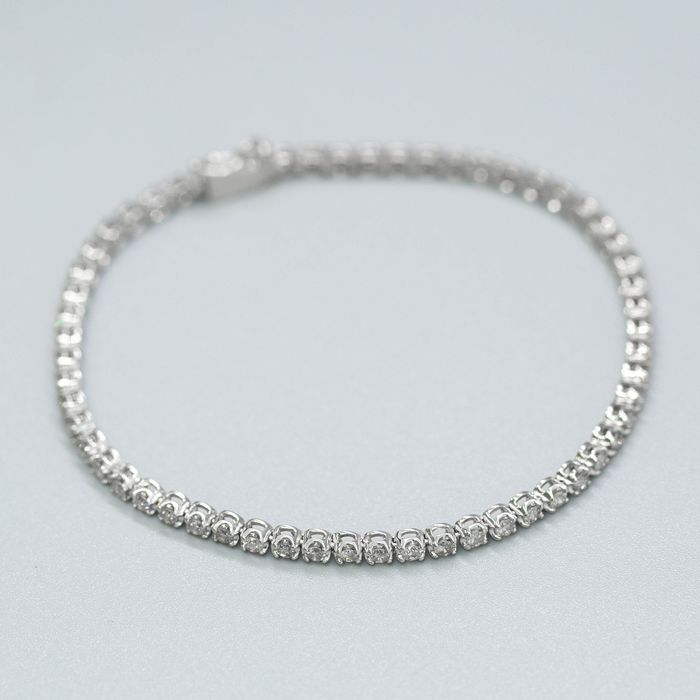 14 kt. White gold, 9.25g - Bracelet - 2.00 ct Diamond - No Reserve Price
