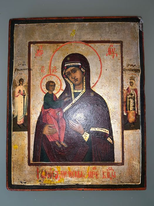 Icon, 19th century, Mary and Child Jesus Christ - Wood - 19th century