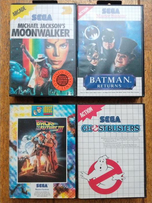 Sega master system Back to the Future 3/Ghostbusters - Michael Jackson's Moonwalker/Batman Returns (4)