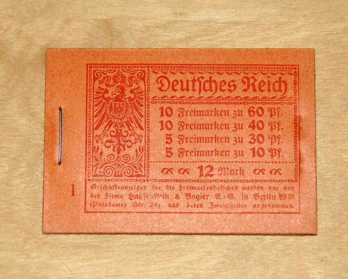 """Duitse Rijk 1921 - German Empire 1921 - """"Germania"""" and digits stamp booklet, MNH - Michel MH 15 A"""