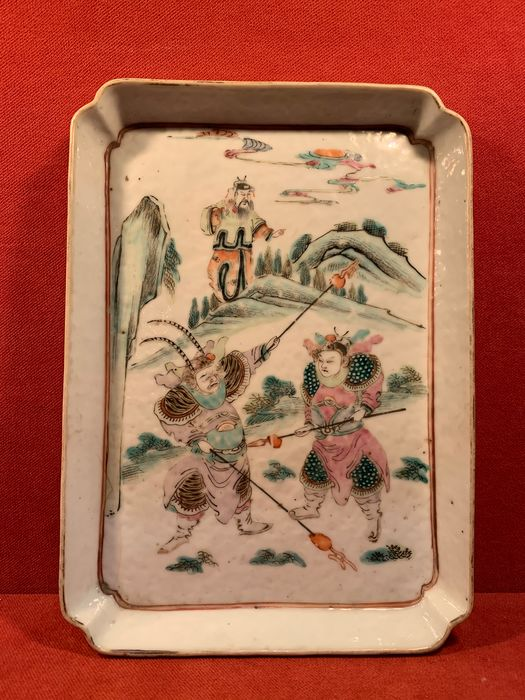 Tray (1) - Famille rose - Porcelain - China - Late 19th century