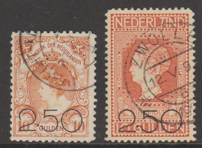Pays-Bas 1920 - Clearance issue - NVPH 104/105