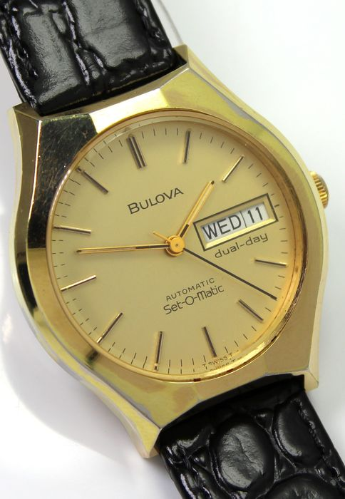"Bulova - ""NO RESERVE PRICE""  Swiss made Automatic - Set -O-Matic Day Date - Men - 1960-1969"
