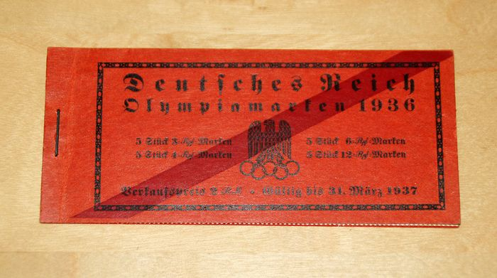 """Duitse Rijk 1936 - German Reich 1936 - """"Olympic Games"""" stamp booklet, MNH - Michel MH 42.2"""