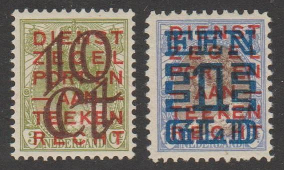 Pays-Bas 1923 - Clearance issue - NVPH 132C + 133A
