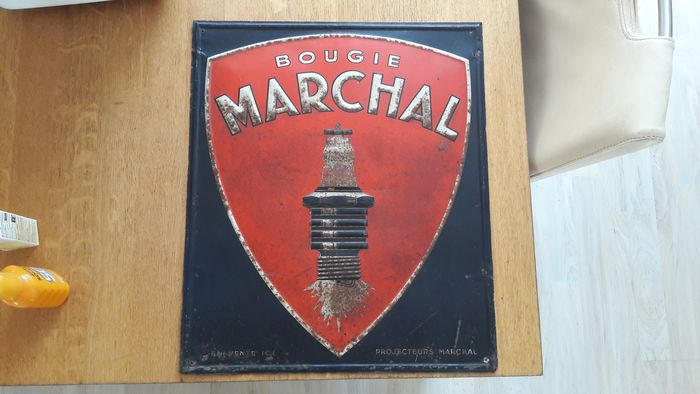Decorative object - Reclamebord - Marchal bougie - 1930-1940