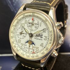 Philippe Du Bois & Fils - Perpetuelle Moon Phase Chronograph Limited Edition - 314/1999 - Heren - 1990-1999