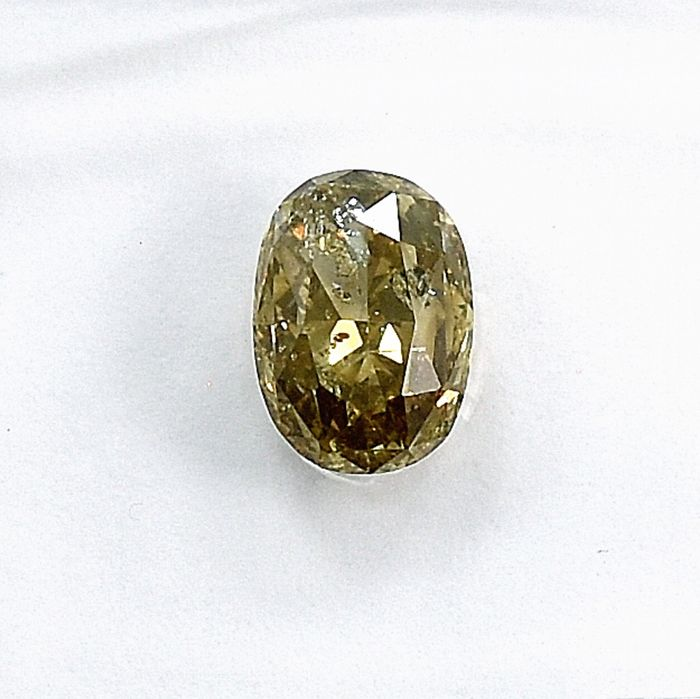 Diamant - 1.00 ct - Oval - Y-Z, light brown - I1 - NO RESERVE PRICE