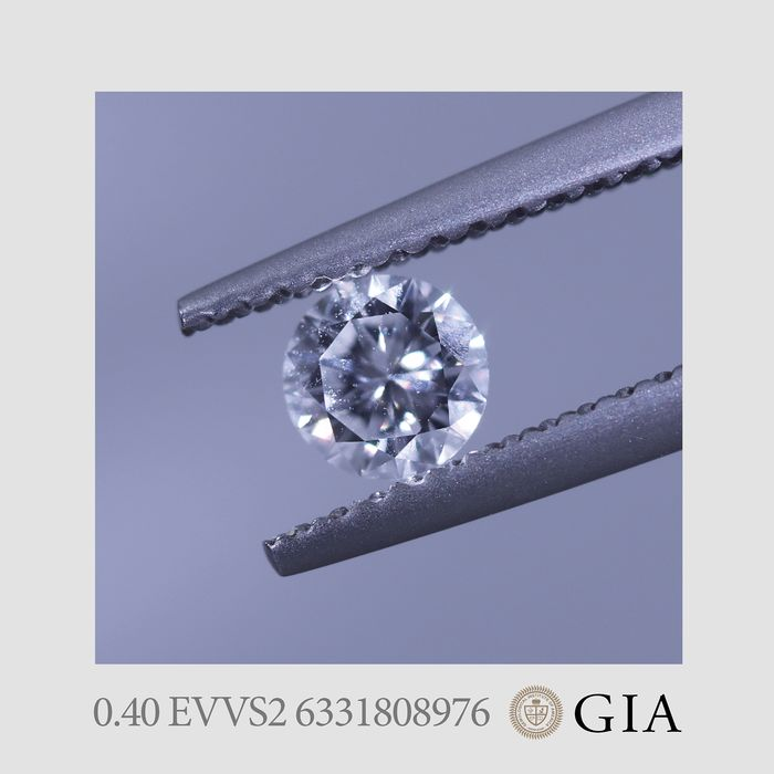 1 pcs Diamond - 0.40 ct - Brilliant - E - VVS2